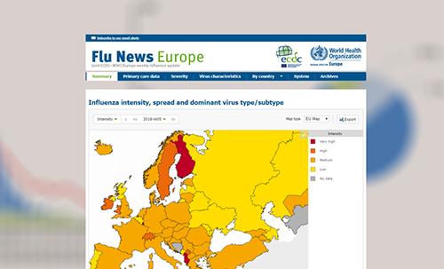 influenza térkép Weekly influenza updates influenza térkép