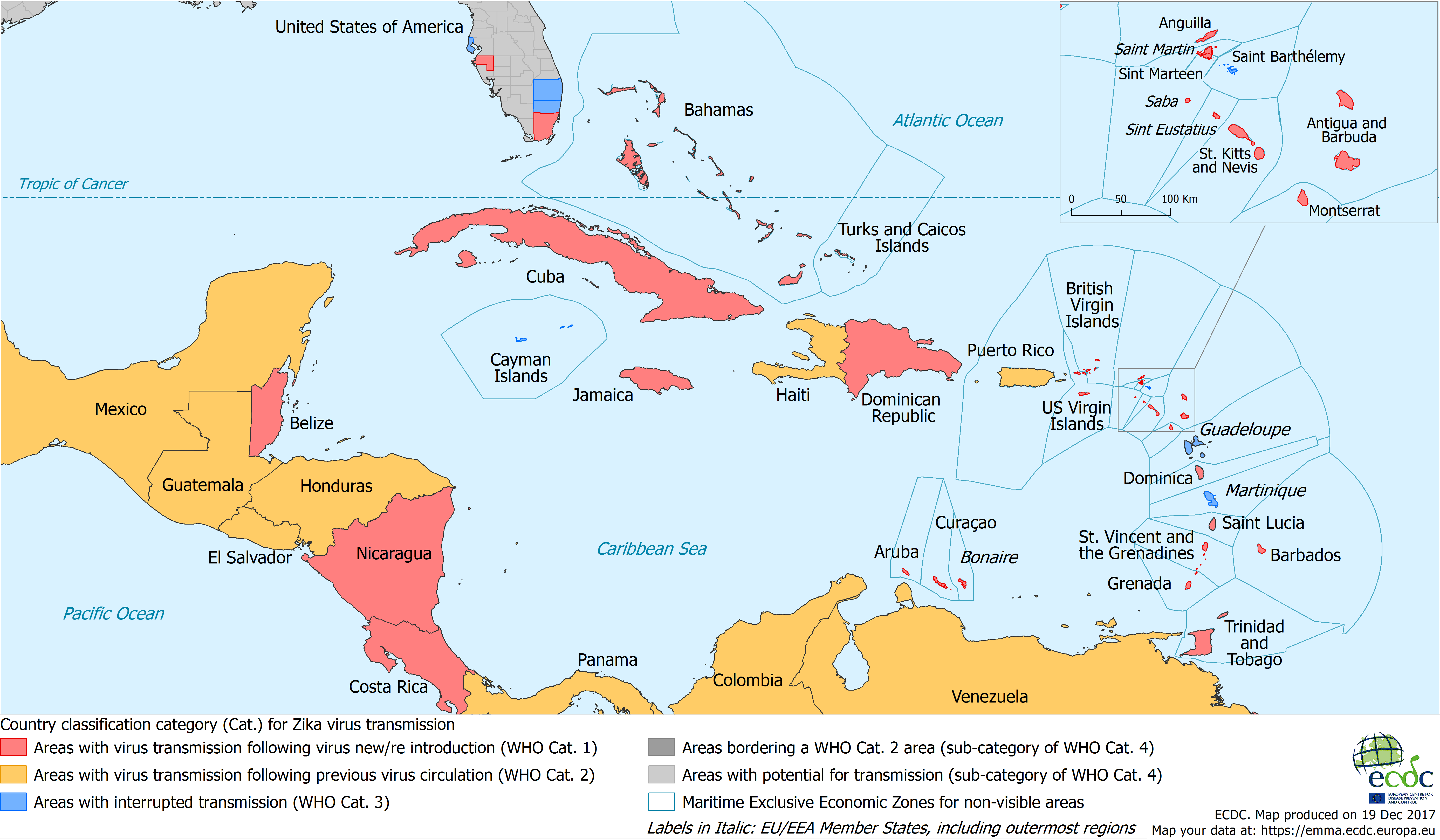 Zika transmission in the Caribbean