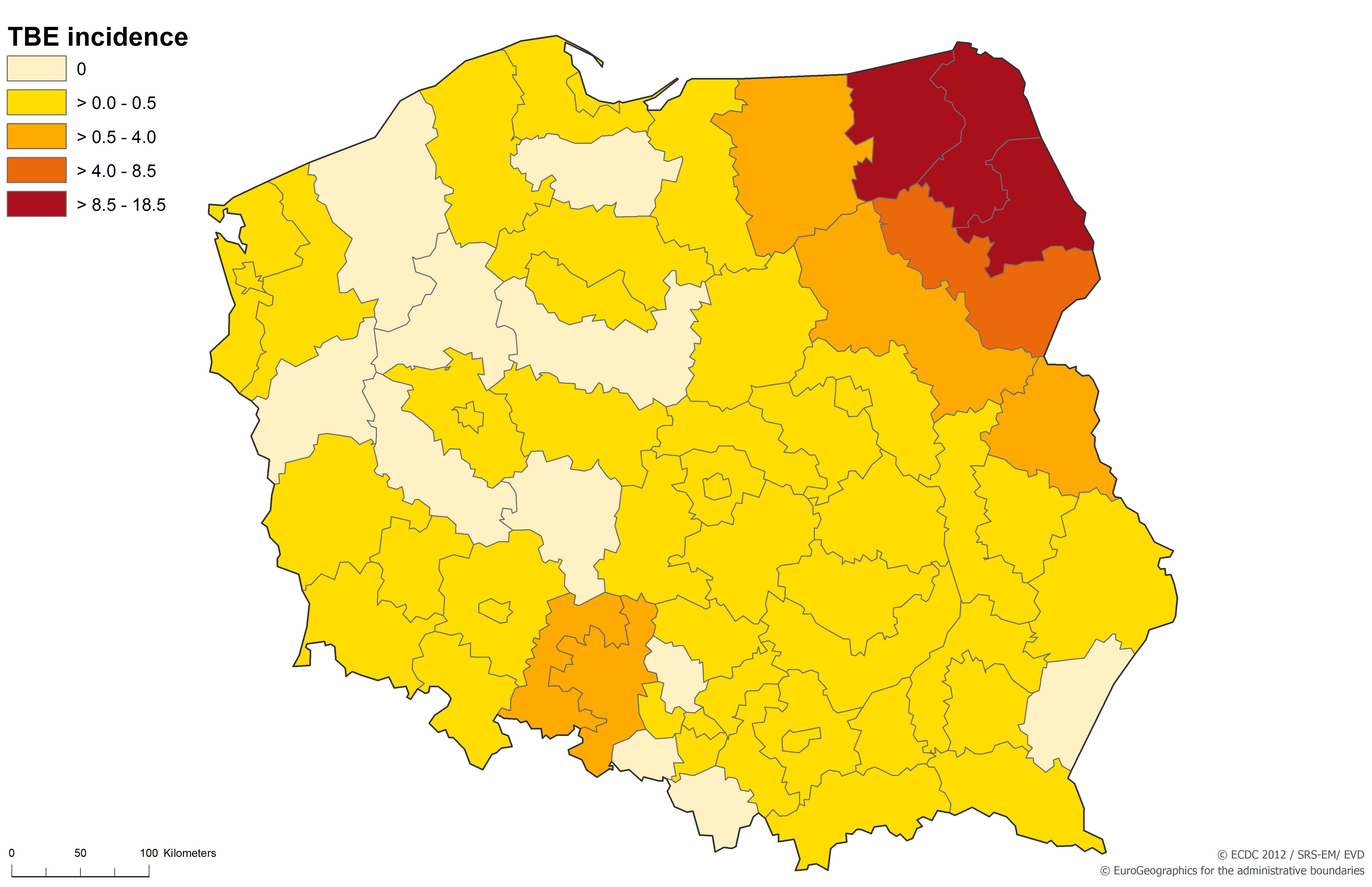 tick borne encephalitis europe map Country profile: Poland. Tick borne encephalitis (TBE)