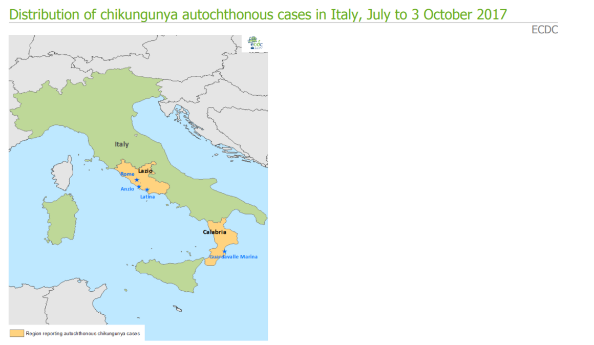 Epidemiological update: Chikungunya – Europe - 2017