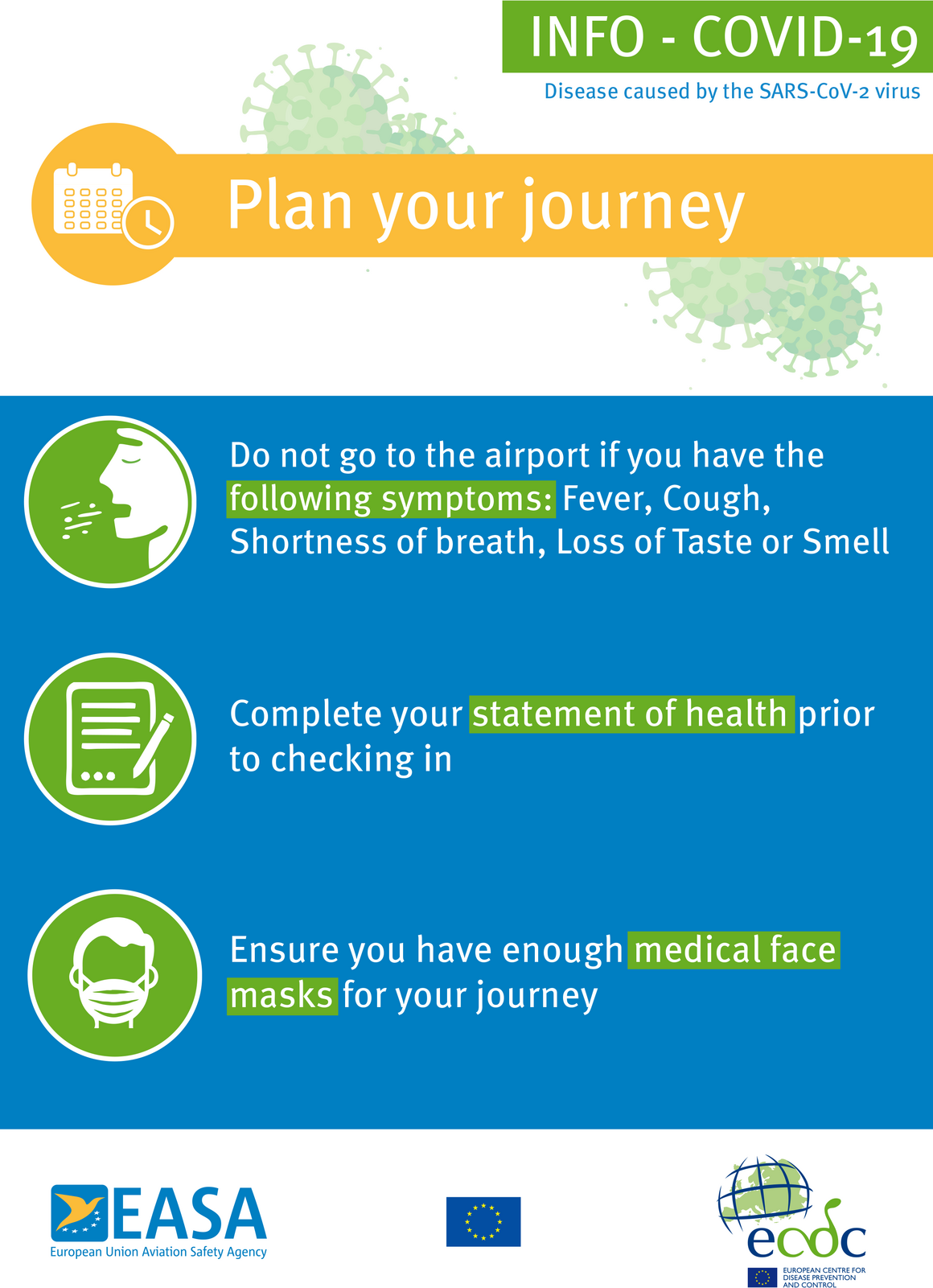 Poster: Plan your journey (blue background)