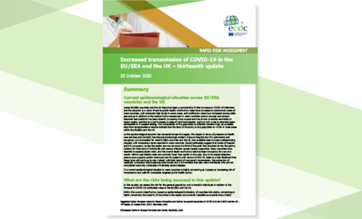 Rapid Risk Assessment: Increased transmission of COVID-19 in the EU/EEA and the UK – thirteenth update