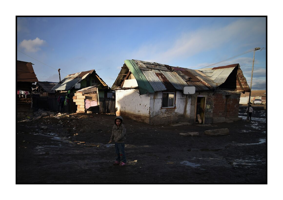 Roma settlement in Veľká Lomnica, Slovakia;