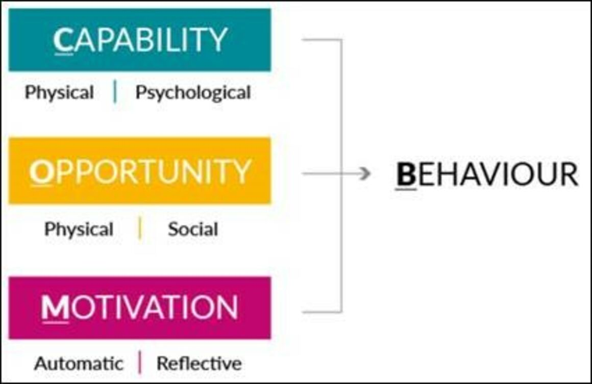 The COM-B model - How to enable a behaviour change among healthcare workers