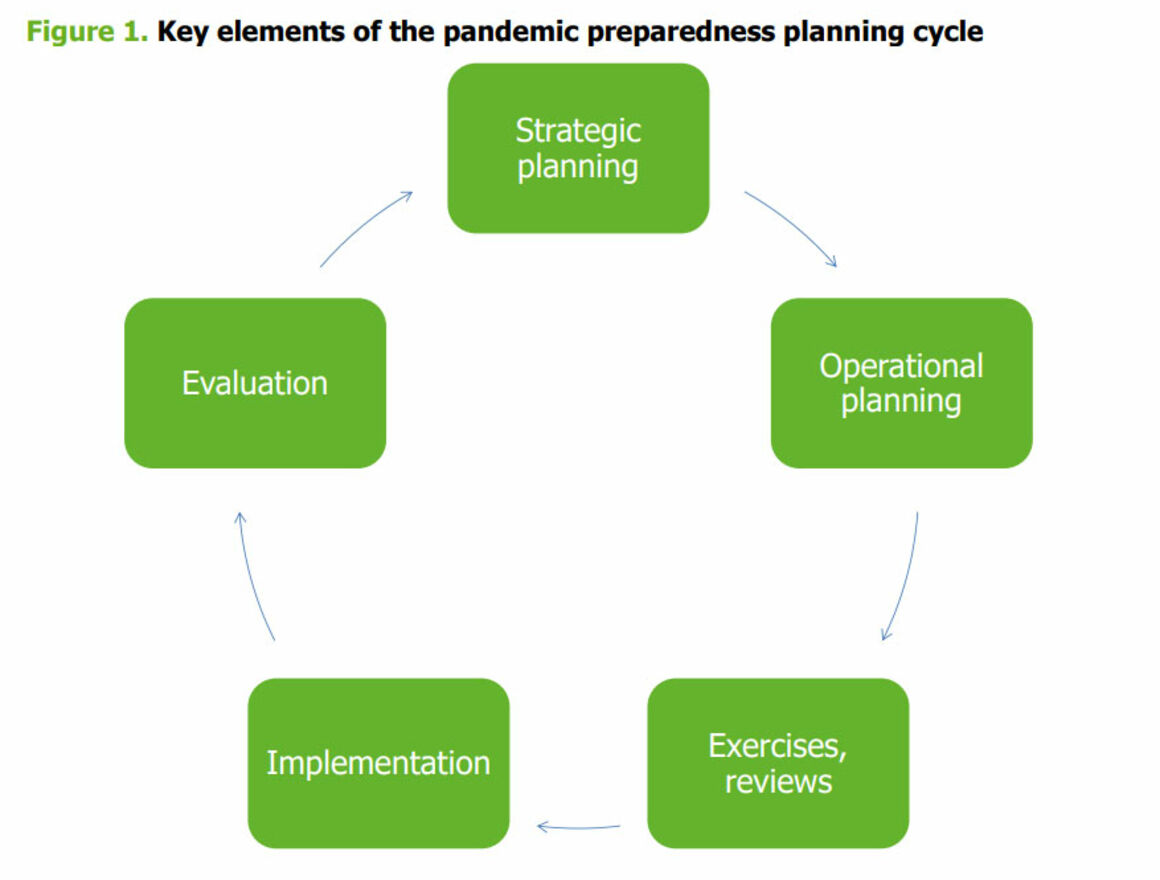 Figure 1. Key elements of the pandemic preparedness planning cycle