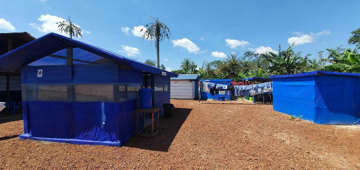 Ebola Treatment Centre, Lilanga Bobangi, Equateur, DRC.  Photo: Iris Finci, Nov. 2020.
