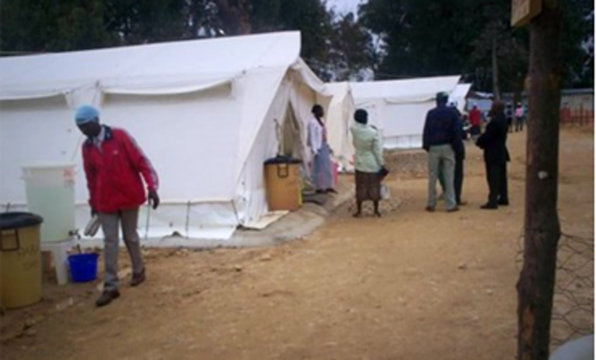 EPIET Postcard from the field - Tents with patients during cholera outbreak in Angola