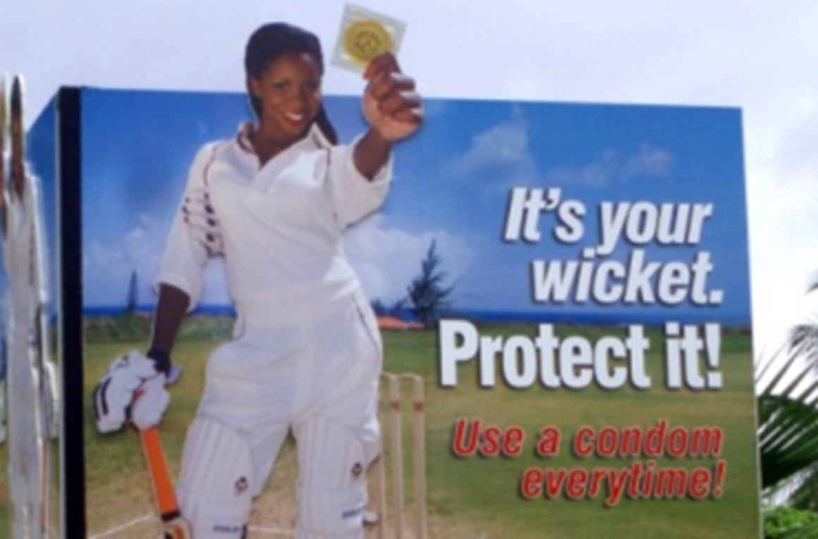 EPIET Postcard from the field - Poster for HIV awareness, during the cricket tournament, Guyana
