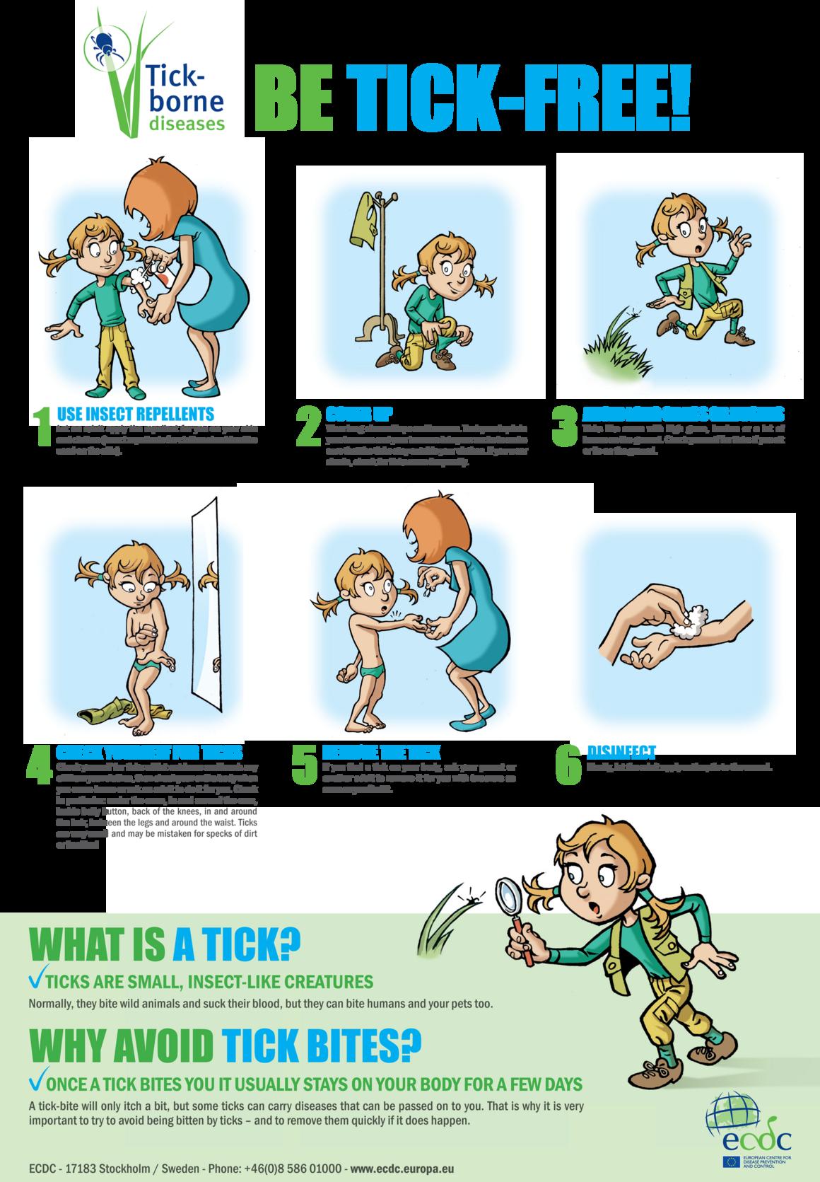 Poster on ticks for school children living in endemic areas