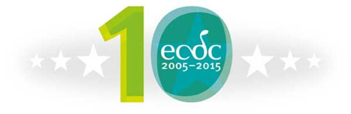 Logotype of the 10 year anniversary of ECDC