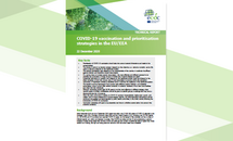 Cover of the report: COVID-19 vaccination and prioritisation strategies in the EU/EEA